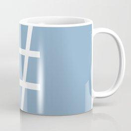 number sign on placid blue color background Coffee Mug