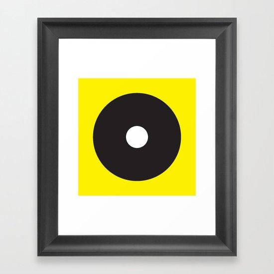 White dot on black on yellow by garyandrewclarke