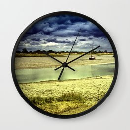 Maldon Estuary Towards the Sea Wall Clock