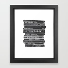 Mono book stack 2 Framed Art Print