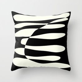 Abstract Composition in Black and White Throw Pillow