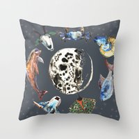 cosmic Throw Pillows featuring Cosmic by AnnaW