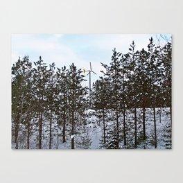 Windmill Through the Trees Canvas Print