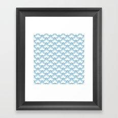 matsukata in dusk blue Framed Art Print
