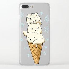 Arctic Fox Ice cream Clear iPhone Case