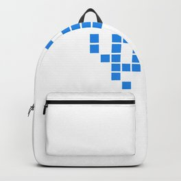 Alien Raider (blue): 8-bit with isolated pixels UFO No. 7-2-3-2 Backpack