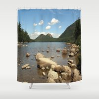 maine Shower Curtains featuring Maine by Raymond Earley