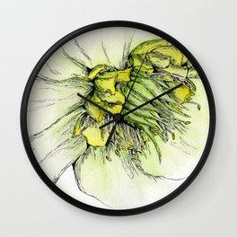 Watercolor Helleborus Wall Clock