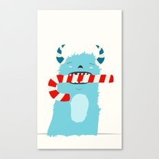 December Monsters: Candy Cane Canvas Print