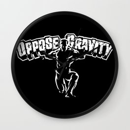 Oppose Gravity Wall Clock