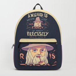 A Wizard is Never Late // The Late Pilgrim, Fantasy Movie Quote Backpack