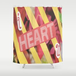I Heart U. Shower Curtain