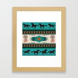 American Native Pattern No. 156 Framed Art Print