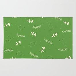 Sagittarius Pattern - Green Rug