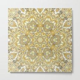 Orange and Yellow Kaleidoscope 1 Metal Print