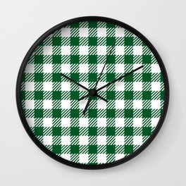 Green Vichy Wall Clock