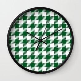 Green Vichy Wall Clock