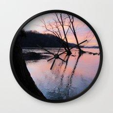 reflecting dusk Wall Clock
