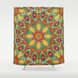 Colors of India Shower Curtain