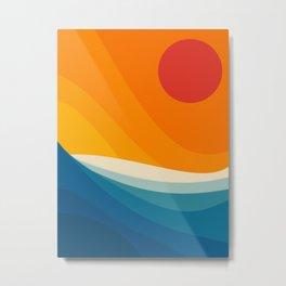 Abstract landscape art Metal Print