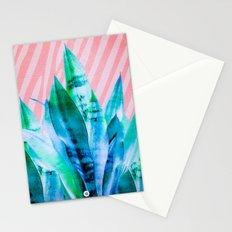 Greenish blue plants 02 Stationery Cards