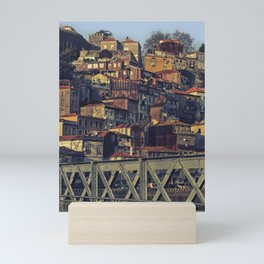 Porto from the bridge. Mini Art Print