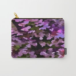 Foliage Abstract Pop Art In Ultra Violet and Purple Carry-All Pouch