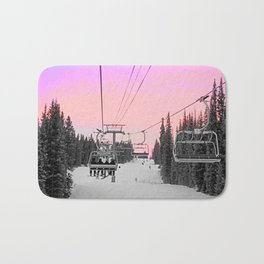Ski Lift Sunset Shot on iPhone 4 Bath Mat