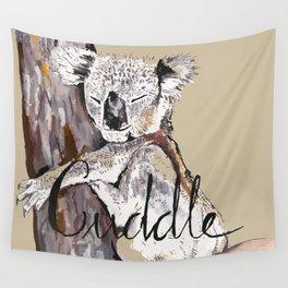 koala cuddle Wall Tapestry