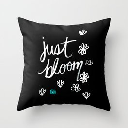 Just Bloom Throw Pillow