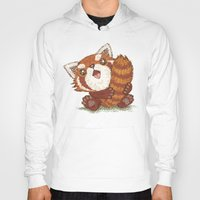 red panda Hoodies featuring Panda by Toru Sanogawa
