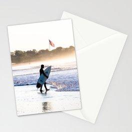 Surfer in Narragansett Stationery Cards