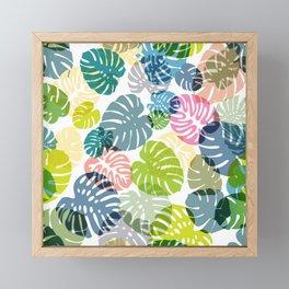 Multicolor Tropical Leaves 29 Framed Mini Art Print