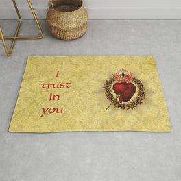 I trust in you Yellow Rug