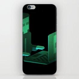 Hacker low-poly 3D artwork iPhone Skin