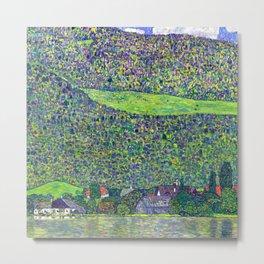 Gustav Klimt Litzlberg on the Attersee Metal Print