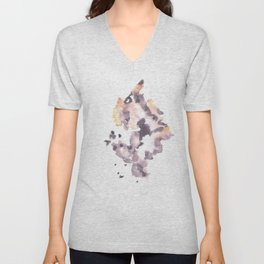 Soft Texture Watercolor | [Grief] Goodbye & Hello Unisex V-Neck