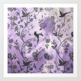Wallflower (in Violet) Art Print