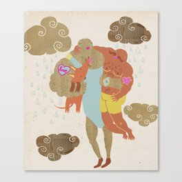 when you love somebody you hold them tight Canvas Print