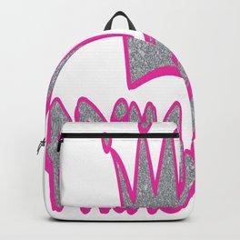 Princess Pink Crown Print Backpack