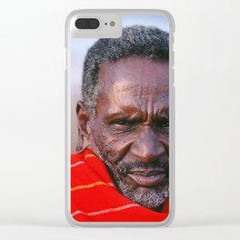 African Maasai Elder Clear iPhone Case