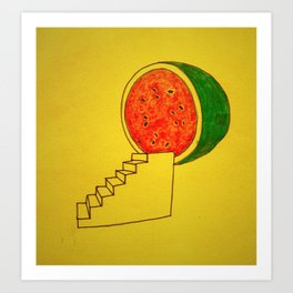 To Watermelon Art Print