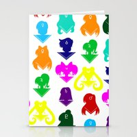 sailormoon Stationery Cards featuring Sailormoon Senshi pattern by ApocalypseToo Studios