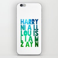 one direction iPhone & iPod Skins featuring One Direction by Monika Strigel