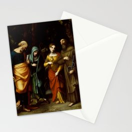 "Antonio Allegri da Correggio ""Saints Peter, Martha, Mary Magdalen, and Leonard"" Stationery Cards"