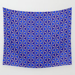 Flower of Life Blue Pattern Wall Tapestry