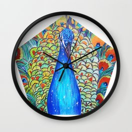 Peacock King Wall Clock