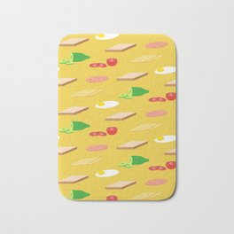 Breakfast Pattern Bath Mat