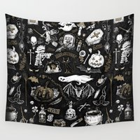witchcraft Wall Tapestries featuring Witchcraft by pakowacz