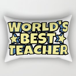 World's Best Teacher Rectangular Pillow